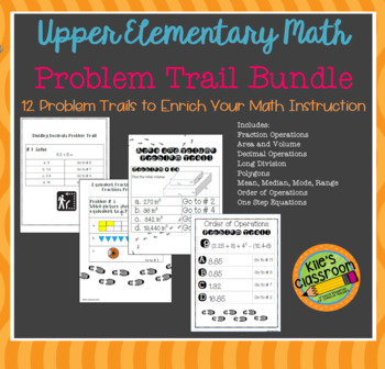 Math Problem Trail Bundle - Add Movement to Your Math Lesson by Kile's Classroom