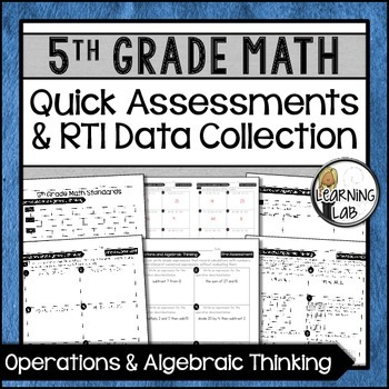 Operations & Algebra - 5th Grade Quick Assessments and RTI