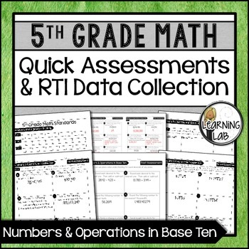Numbers & Operations - 5th Grade Quick Assessments and RTI