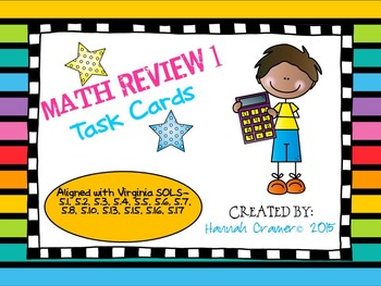 5th Grade Math Review (All Virginia SOLs) Task Card Set 1