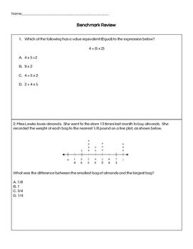 5th Grade Math Review: Common Core Aligned