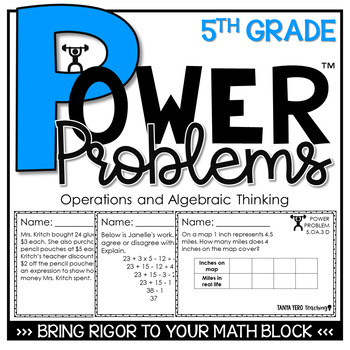 5th Grade Math Rigorous Word Problems Algebraic Thinking S