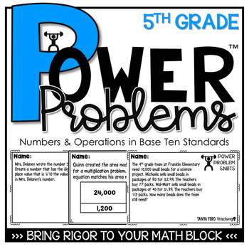 5th Grade Math Rigorous Word Problems Numbers & Operations