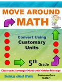 5th Grade Math Scavenger Hunt: Customary Measurement Conve
