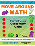 5th Grade Math Scavenger Hunt: Customary Measurement Conve