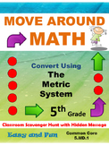 5th Grade Math Scavenger Hunt: Metric Measurement Conversi