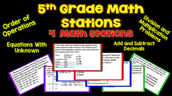 5th Grade Math Small Group Stations