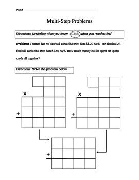 5th Grade Math- Solving Multistep Problems
