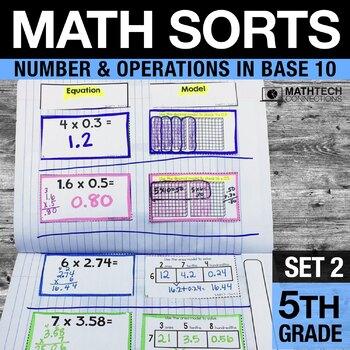 5th Grade Math Sorts - Set 2 Decimals