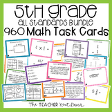 5th Grade Math Task Cards Mega Bundle