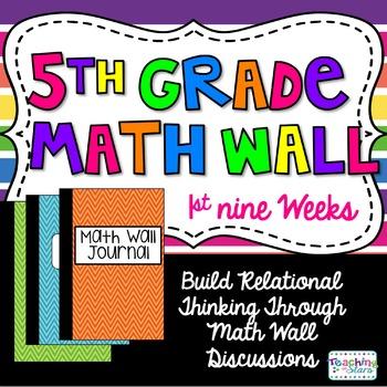 5th Grade Math Wall ~1st Nine Weeks Fractions, Decimals, a