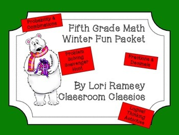 5th Grade Math Winter Activity Packet