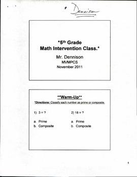 5th Grade Mathematics