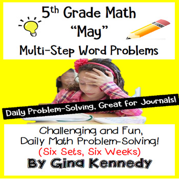 Daily Problem Solving for 5th Grade: May Word Problems (Mu