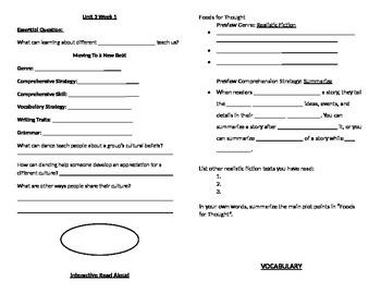 5th Grade McGraw Hill Reading Wonders Unit 3 Week 1 Journal
