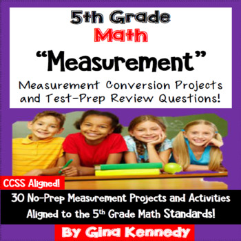 5th Grade Measurement Conversions,30 Enrichment Projects &
