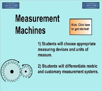 5th Grade Measurement Machines Computer Practice Activity