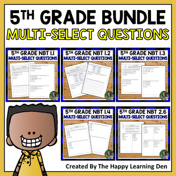 FSA 5th Grade: Multi-Select Questions Numbers and Operatio