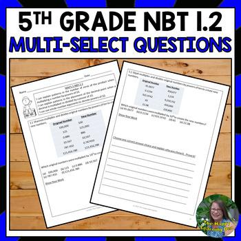 5th Grade Multi-Select Questions:NBT1.2