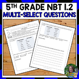 FSA Practice: Multi-Select Questions-Number Patterns and E