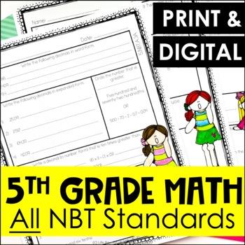 5th Grade NBT Review Sheets - All NBT Standards