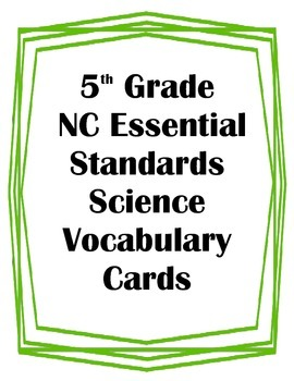 5th Grade NC Essential Standards Sci. Genetics/ Heredity V