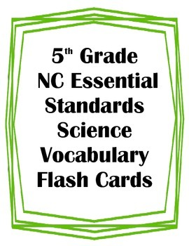 5th Grade NC Essential Standards Science Body Systems Voca