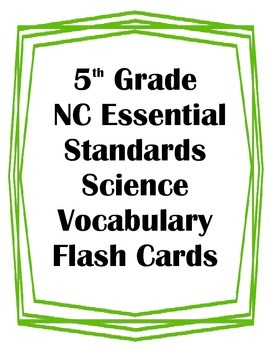 5th Grade NC Essential Standards Science Weather Vocabular