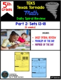 5th Grade NEW TEKS TX Tornado Spiral Review Pt 2 (Sets 7-1