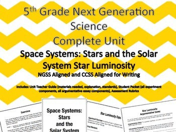 5th Grade Next Generation Science Unit Space Systems: Star