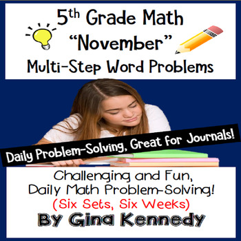 Daily Problem Solving for 5th Grade: November Word Problem