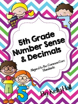 5th Grade Number Sense:Whole & Decimals Interactive Notebook