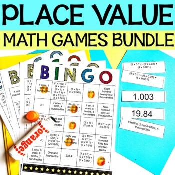 5th Grade Place Value Math Games Bundle