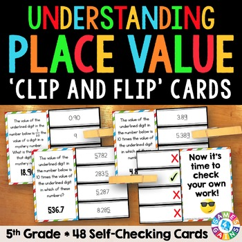 5th Grade Place Value Task Cards (5.NBT.1)