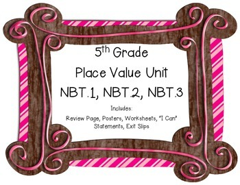 5th Grade Place Value Unit