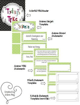 """5th Grade Polka Dot Themed Science TEKS """"I Can"""" Statement Posters"""