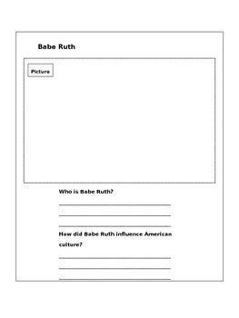 5th Grade Postwar America Interactive Notebook Activity