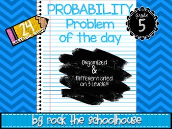 Probability Task Cards - Math Problem of the Day ( 5th gra