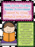 5th Grade Reading Assessment - ALL CCSS Standards Test Pre