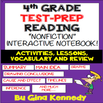 4th Grade Reading Interactive Notebook! Passages, Activiti