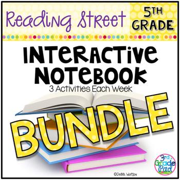 5th Grade Reading Street INTERACTIVE NOTEBOOK GROWING Bund