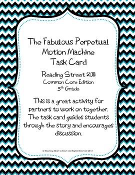 5th Grade Reading Street Task Card- Fabulous Perpetual Mot