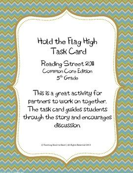 5th Grade Reading Street Task Card- Hold the Flag High(Com