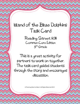 5th Grade Reading Street Task Card-Island of the Blue Dolp