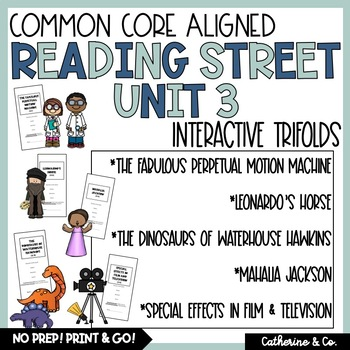 5th Grade Reading Street Unit 3 Trifolds (Common Core Edit