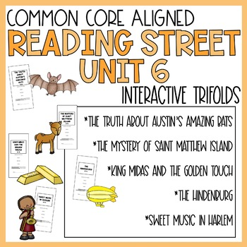 5th Grade Reading Street Unit 6 Trifolds (Common Core Edit