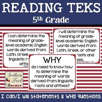 5th Grade Reading TEKS