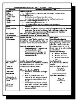 5th Grade ReadyGen Lesson Plan ELA Unit 1 Module A Lesson