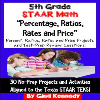 5th Grade STAAR Math Rates, Ratios, Percentage, Enrichment