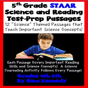 5th Grade Science & Reading STAAR Aligned Test Prep! 12 Sc